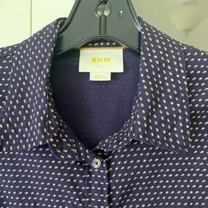 Maeve long sleeve polka dot dress shirt